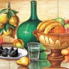 Decor cu fructe si apa - Faianta pictata manual pentru amenajarea bucatariilor - ARTELUX