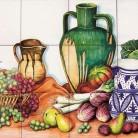 Decor plita cu fructe legume si vase de lut - Faianta pictata manual pentru amenajarea bucatariilor