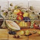 Decor plita rustic cu fructe - Faianta pictata manual pentru amenajarea bucatariilor - ARTELUX