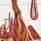 Decor gourmet spaniol cu jamon si branzeturi - Faianta pictata manual pentru amenajarea bucatariilor - ARTELUX