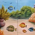 Peisaj subacvatic corali si pesti - Faianta pictata pentru piscine - ARTELUX