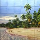 Plaja de vis - Faianta pictata pentru piscine - ARTELUX