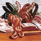 Decor plita gourmet carne - Faianta pictata pentru restaurante - ARTELUX