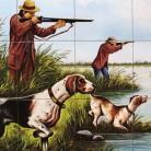 La vanatoare de pasari in delta - Faianta pictata pentru restaurante - ARTELUX