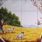 La vanatoare de pasari - Faianta pictata pentru restaurante - ARTELUX