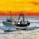 Vapor pe mare - Faianta pictata pentru restaurante - ARTELUX