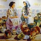 Asteptand clienti pentru ceramica realizata manual - Decoruri artistice din faianta pictata pentru living ARTELUX