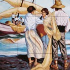 Cumparand peste pe malul marii - Decoruri artistice din faianta pictata pentru living ARTELUX