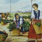 Decor plita rustic la cules via - Decoruri artistice din faianta pictata pentru living ARTELUX