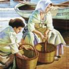Femei pe malul marii - Decoruri artistice din faianta pictata pentru living ARTELUX
