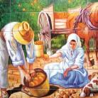 La cules de portocale - Decoruri artistice din faianta pictata pentru living ARTELUX