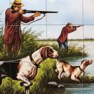 La vanatoare de pasari in delta - Decoruri artistice din faianta pictata pentru living ARTELUX