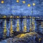 Noapte instelata peste Ron - Decoruri artistice din faianta pictata pentru living ARTELUX