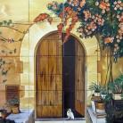 Pisica in prag - Decoruri artistice din faianta pictata pentru living ARTELUX