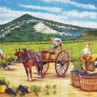 Tarani pe camp la culesul viei - Decoruri artistice din faianta pictata pentru living ARTELUX