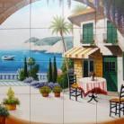 Terasa pe malul marii - Decoruri artistice din faianta pictata pentru living ARTELUX