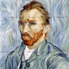Autoportret Van Gogh - Decoruri artistice din faianta pictata pentru living ARTELUX