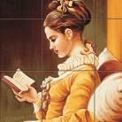Fata citind - Decoruri artistice din faianta pictata pentru living ARTELUX