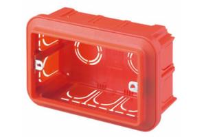 Aparataj electric Doze GEWISS pentru montarea in perete (zidarie sau gips-carton) a aparatajului electric.