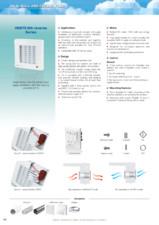 Ventilator axial de perete diam 125mm cu jaluzele automate, timer si intrerupator fir VENTS