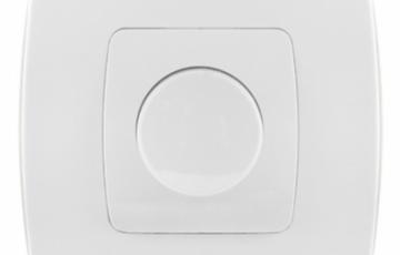 Aparataj electric emporio METALKA Variator de lumina 550 W, Two-pole socket schuko (ceramic body) Emporio white