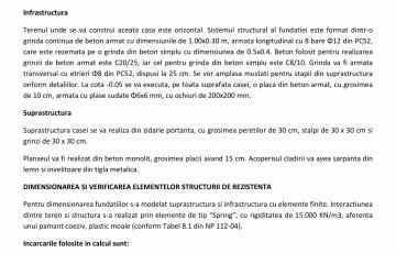 Proiect Structura de Rezistenta - Casa 68 mp - Velciu - Memoriu tehnic de rezistenta ArhiProPub