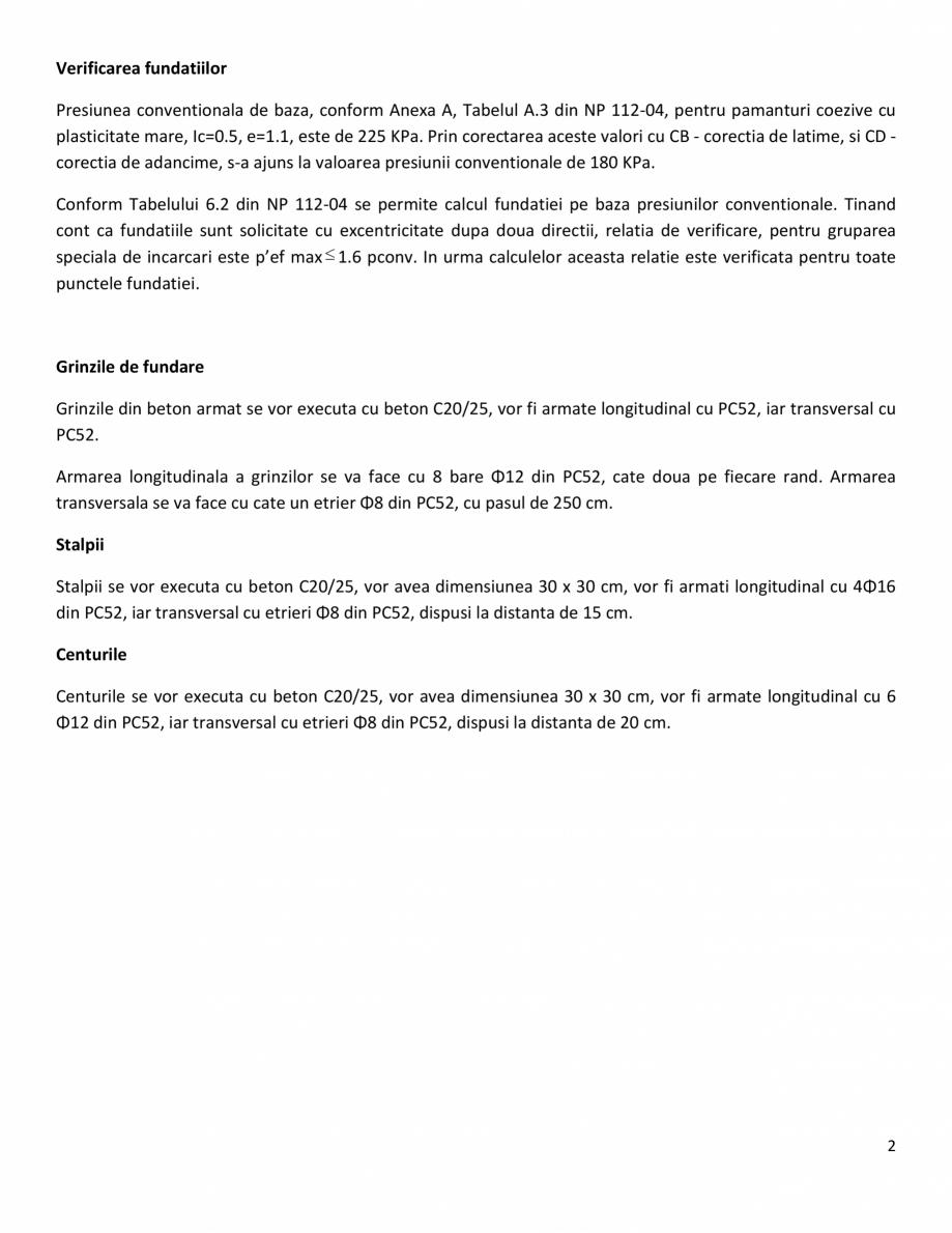 Pagina 2 - Proiect Structura de Rezistenta - Casa 68 mp - Velciu - Memoriu tehnic de rezistenta...