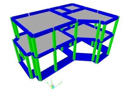 Proiect Structura de Rezistenta - Casa 200 mp - Giulesti Sarbi / Casa 200 mp - Giulesti Sarbi - Modelare 3D