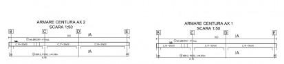 Proiect Structura de Rezistenta - Casa 68 mp - Velciu / Plan armare centuri - Casa 68 mp - Velciu