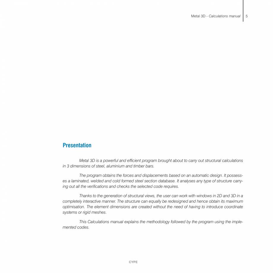 Pagina 5 - Manual de calcule CYPE CYPE 3D Fisa tehnica Engleza  . . . . . . . . . .9  1.13....