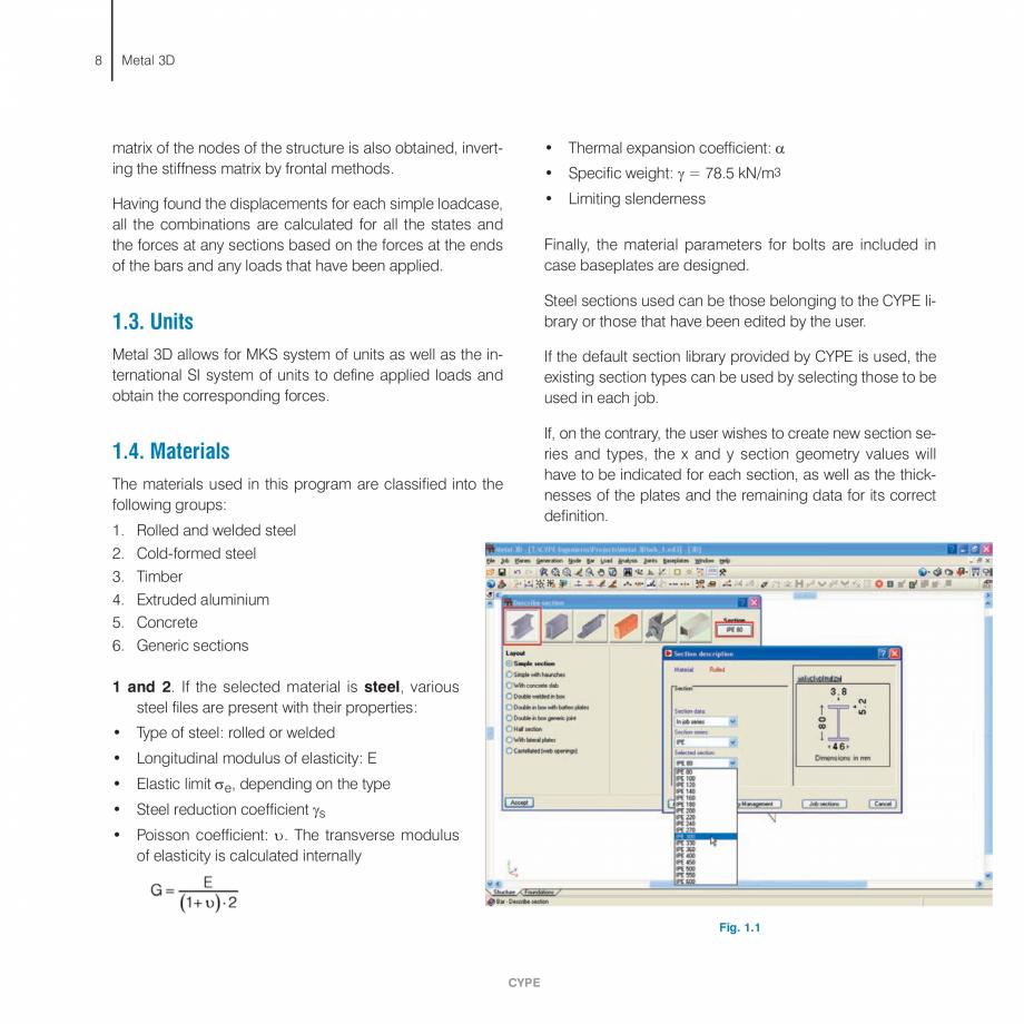 Pagina 8 - Manual de calcule CYPE CYPE 3D Fisa tehnica Engleza  . . . . . . . . . . . . . . . . . ...