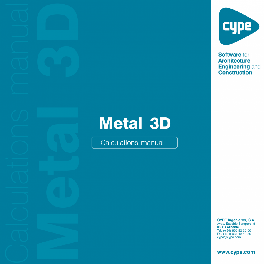 Pagina 1 - Manual de calcule CYPE CYPE 3D Fisa tehnica Engleza 2  IMPORTANT: PLEASE READ THE...