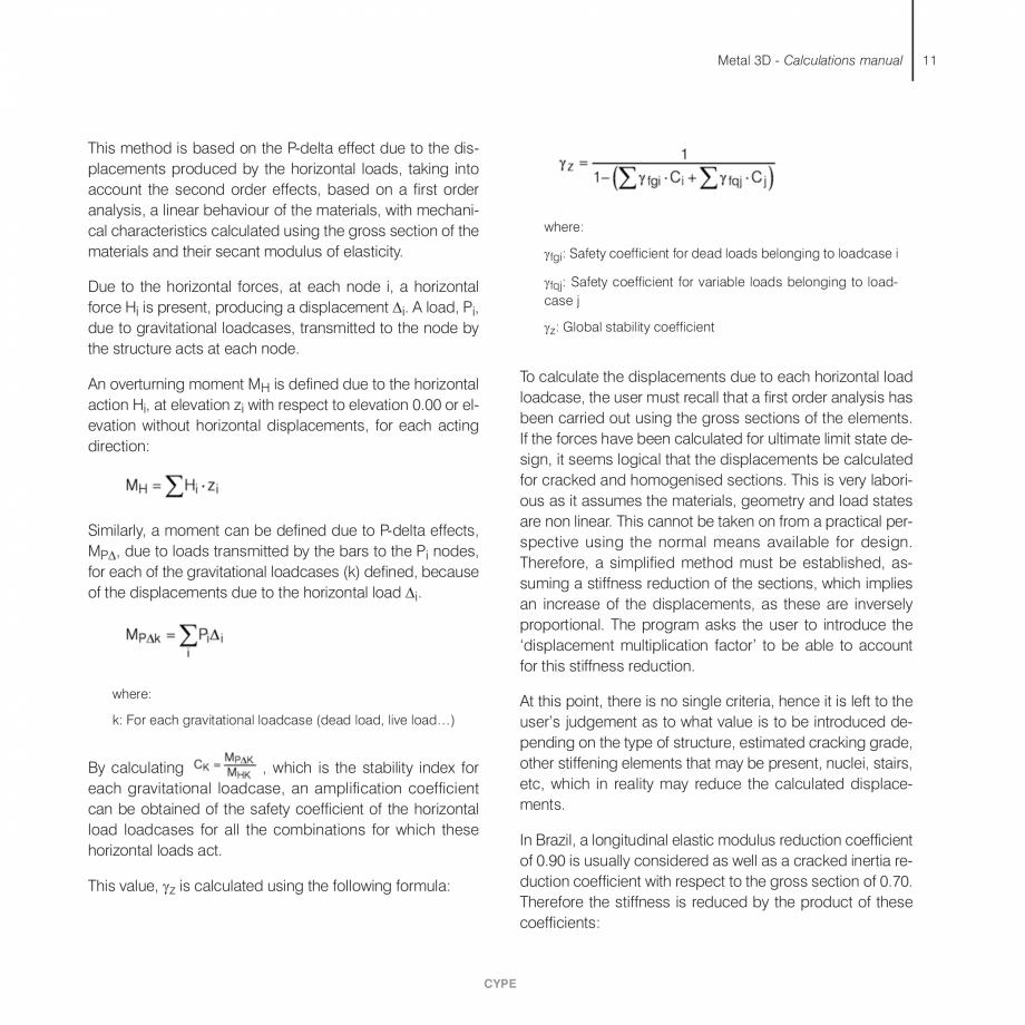 Pagina 11 - Manual de calcule CYPE CYPE 3D Fisa tehnica Engleza  of loadcases is established...