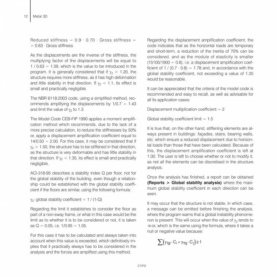 Pagina 12 - Manual de calcule CYPE CYPE 3D Fisa tehnica Engleza ressures (characteristic loads) • ...