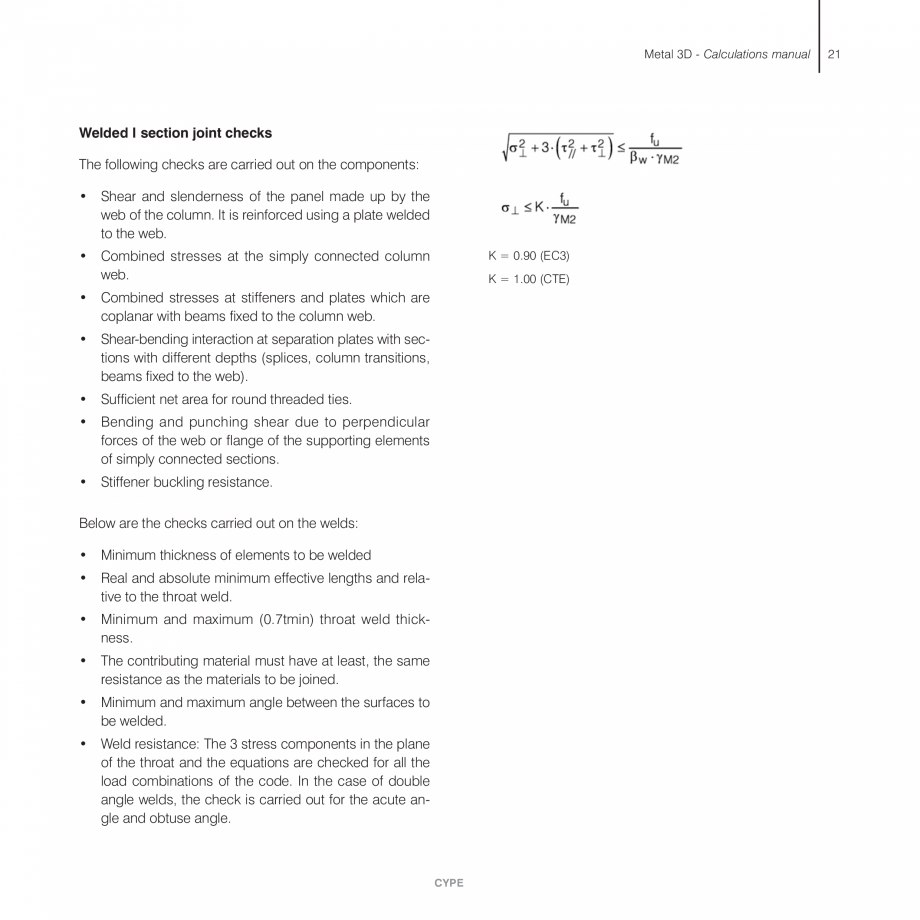 Pagina 21 - Manual de calcule CYPE CYPE 3D Fisa tehnica Engleza e the calculated displacements.  k: ...