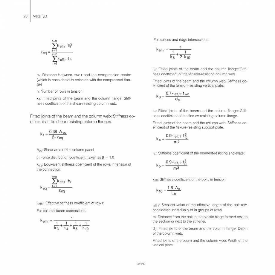 Pagina 26 - Manual de calcule CYPE CYPE 3D Fisa tehnica Engleza �� Steel. The user can choose...