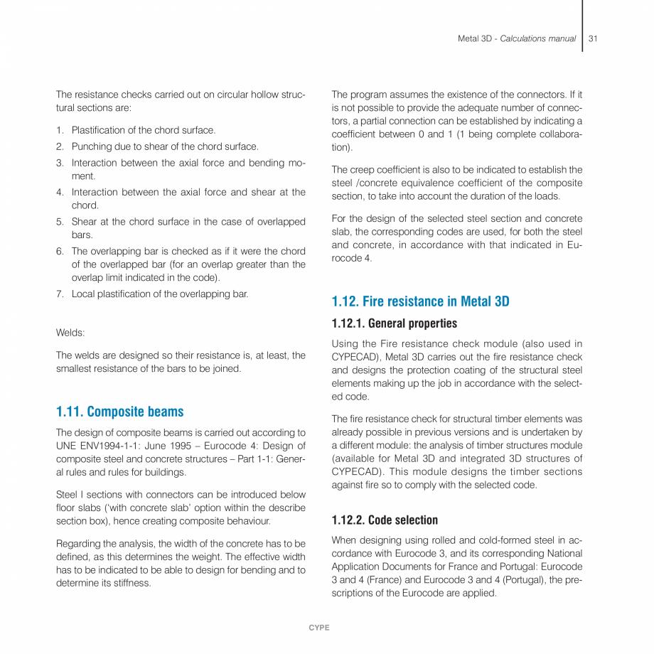 Pagina 31 - Manual de calcule CYPE CYPE 3D Fisa tehnica Engleza ed when these are aligned and so...
