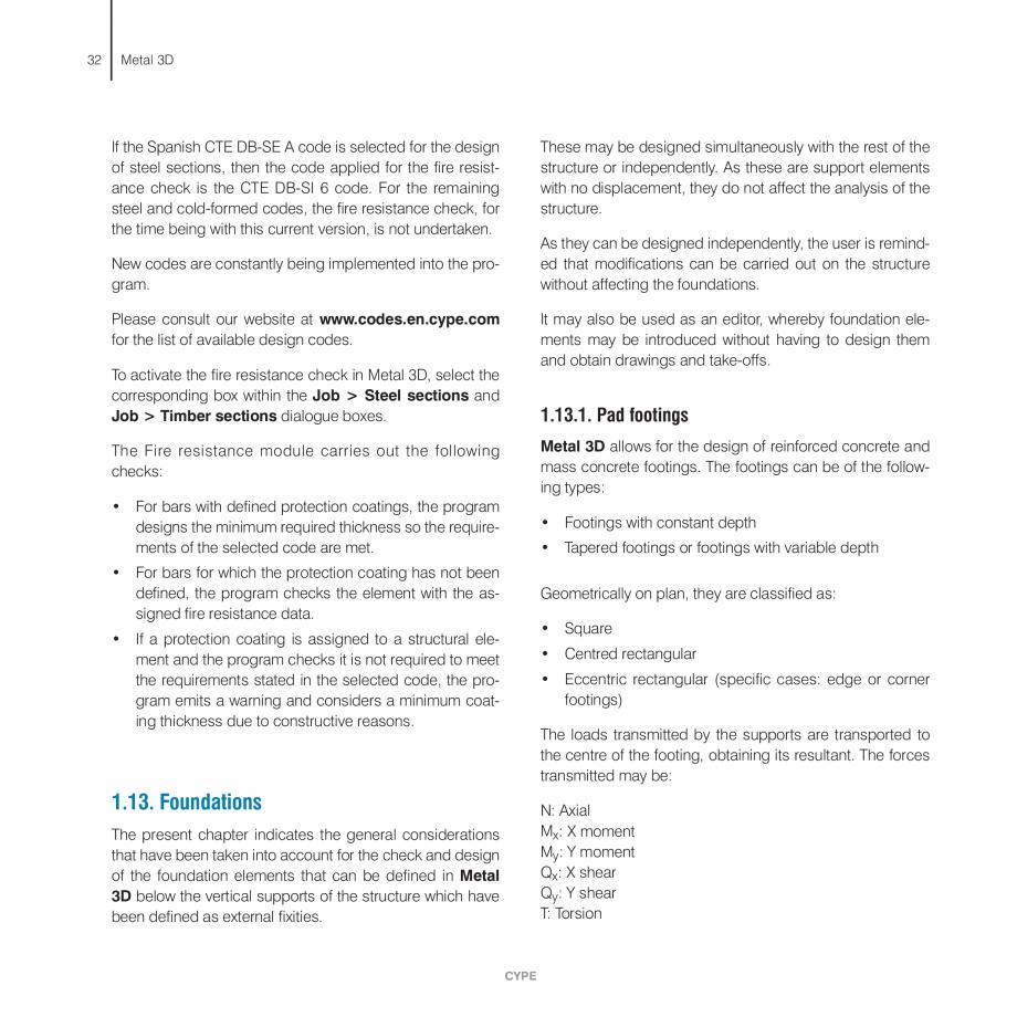 Pagina 32 - Manual de calcule CYPE CYPE 3D Fisa tehnica Engleza e checks • Deflection checks ...