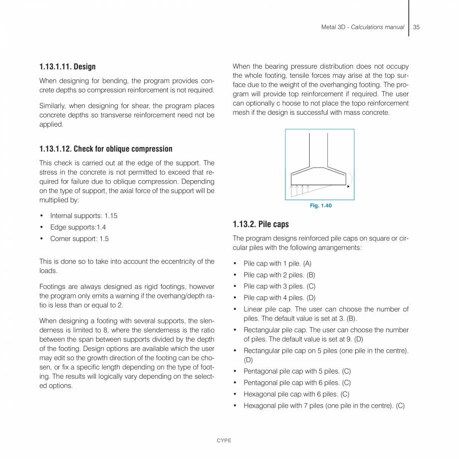 Pagina 35 - Manual de calcule CYPE CYPE 3D Fisa tehnica Engleza  the tie is resolved into the...