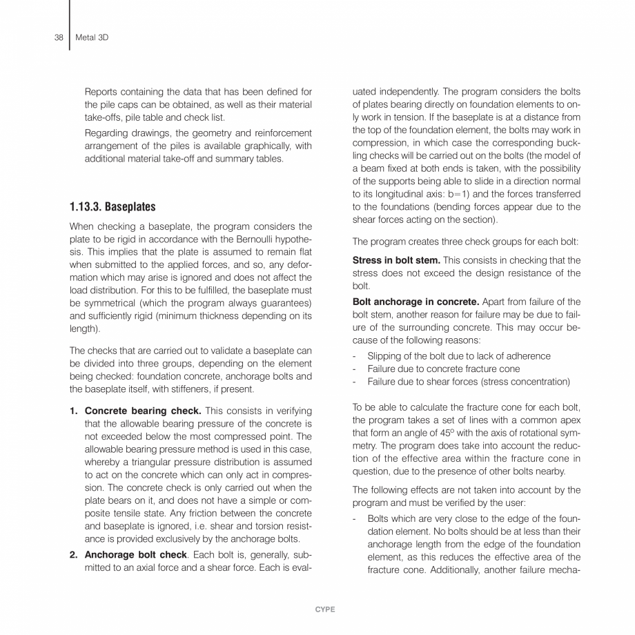 Pagina 38 - Manual de calcule CYPE CYPE 3D Fisa tehnica Engleza 23  For a more complete list of...
