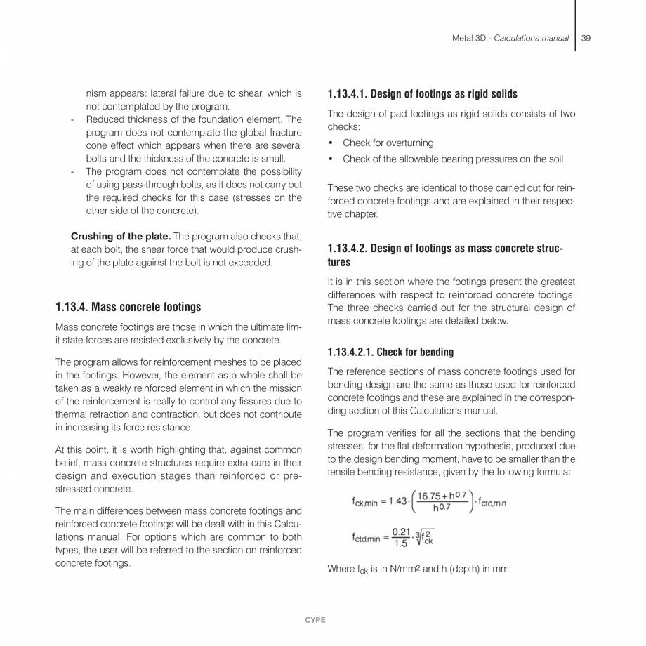 Pagina 39 - Manual de calcule CYPE CYPE 3D Fisa tehnica Engleza f the end span of a bar with the...