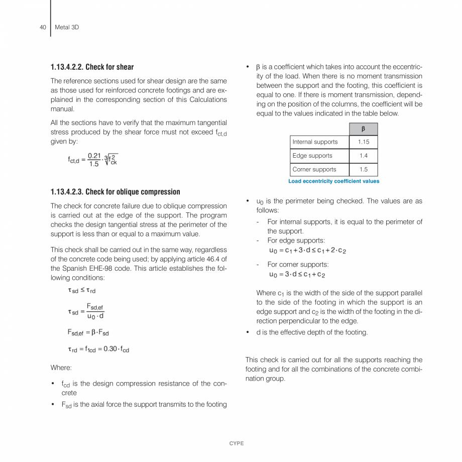 Pagina 40 - Manual de calcule CYPE CYPE 3D Fisa tehnica Engleza d stresses at stiffeners and plates ...