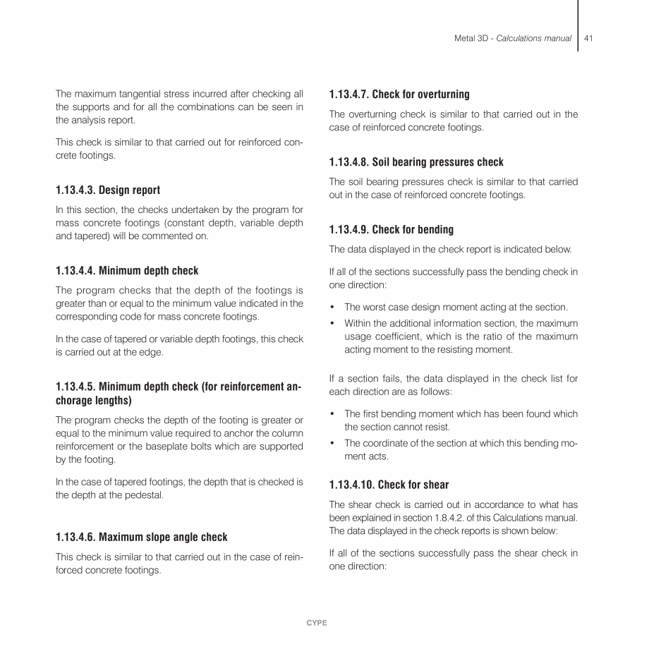 Pagina 41 - Manual de calcule CYPE CYPE 3D Fisa tehnica Engleza de. In the case of double angle...