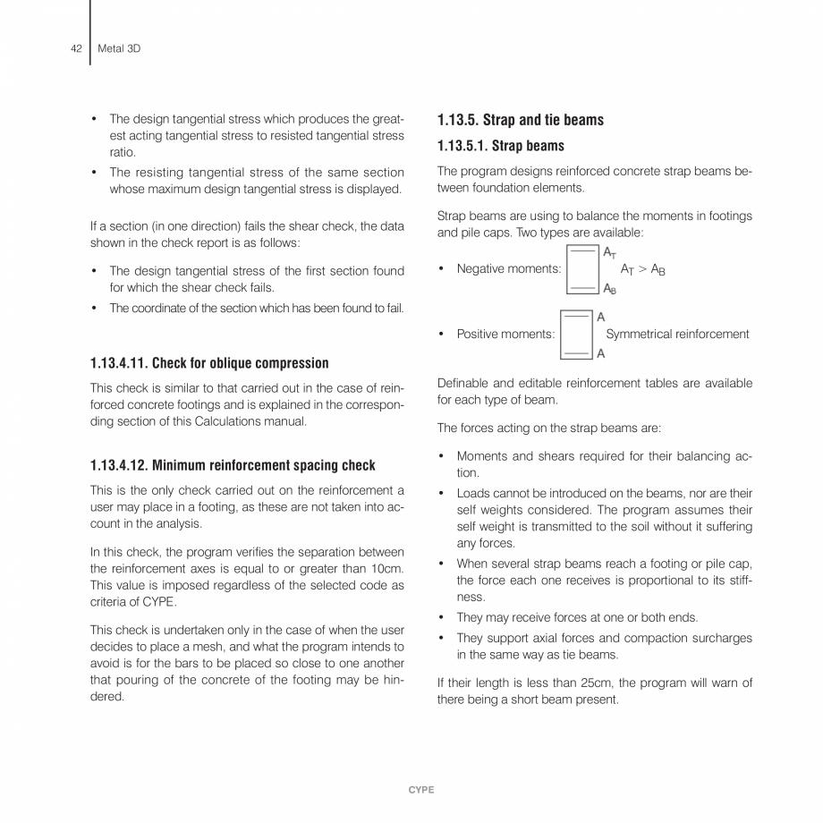Pagina 42 - Manual de calcule CYPE CYPE 3D Fisa tehnica Engleza  panel made up by the column web 18 ...