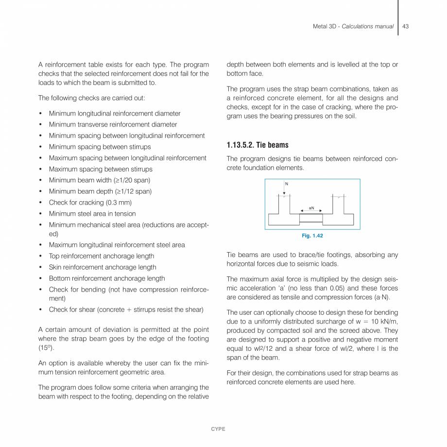 Pagina 43 - Manual de calcule CYPE CYPE 3D Fisa tehnica Engleza  × × × × × × × ×  × × ×...