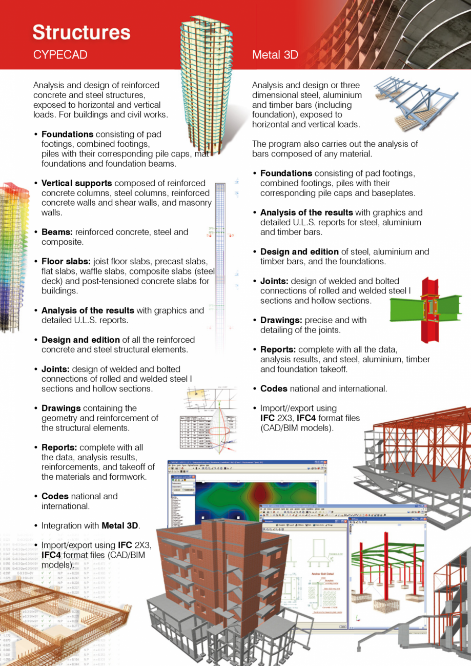 Pagina 4 - CYPE International - Software pentru arhitectura, inginerie si constructii CYPE CYPE 3D, ...