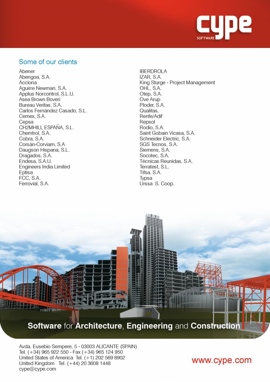 Pagina 8 - CYPE International - Software pentru arhitectura, inginerie si constructii CYPE CYPE 3D, ...