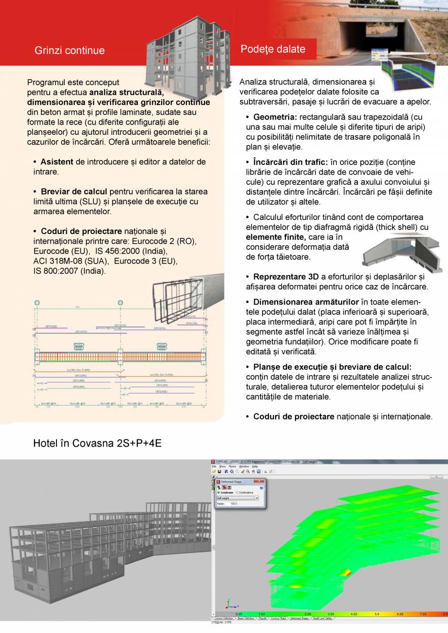 Pagina 6 - CYPE Romania - Software pentru arhitectura, inginerie si constructii CYPE CYPE 3D,...