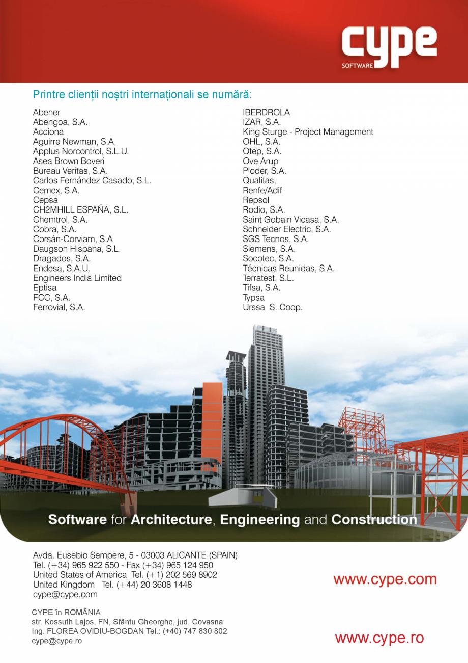 Pagina 8 - CYPE Romania - Software pentru arhitectura, inginerie si constructii CYPE CYPE 3D,...