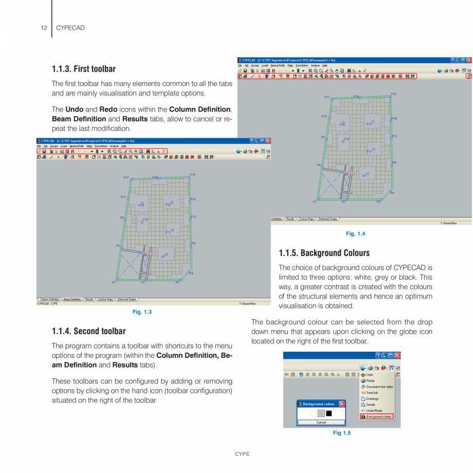 Pagina 12 - Manual de utilizare CYPE CYPECAD Instructiuni montaj, utilizare Engleza width when using...